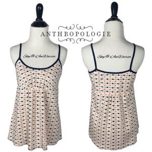 Anthropologie {Lilka} dotted striped cami top